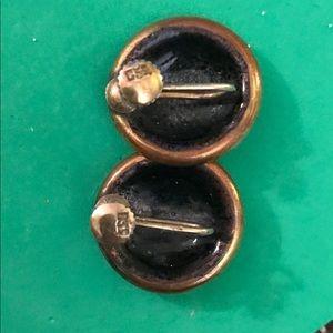 Vintage round clip earrings